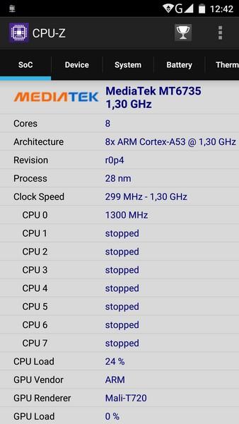Elephone P8000 - CPU-Z 1