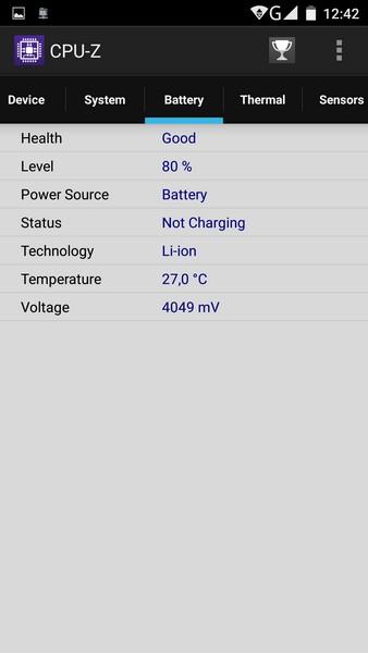 Elephone P8000 - CPU-Z 4
