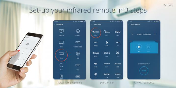 Xiaomi Mi 4c - IR sensor