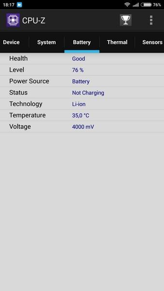 Xiaomi Redmi Note 2 - CPU-Z 4