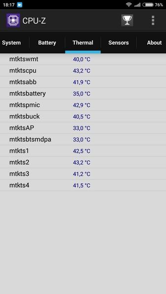 Xiaomi Redmi Note 2 - CPU-Z 5