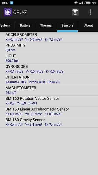 Xiaomi Redmi Note 2 - CPU-Z 6