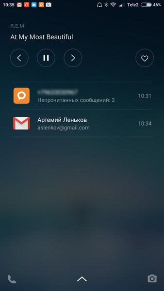 Xiaomi Redmi Note 2 - Lockscreen
