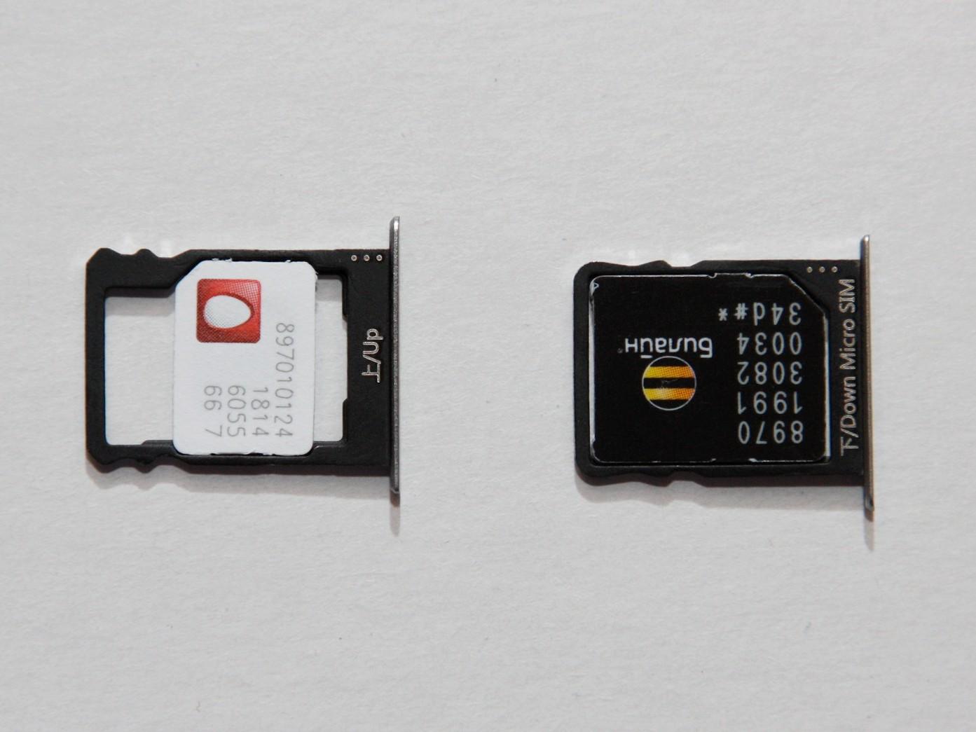 Huawei P8 Lite - SIM-card 1