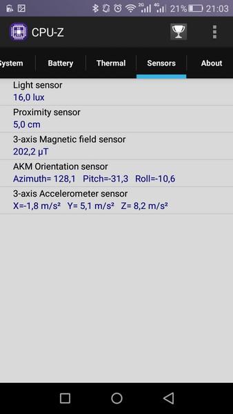 Huawei P8 Lite - CPU-Z 6