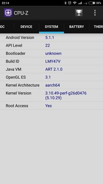 Xiaomi Mi4c - CPU-Z 3
