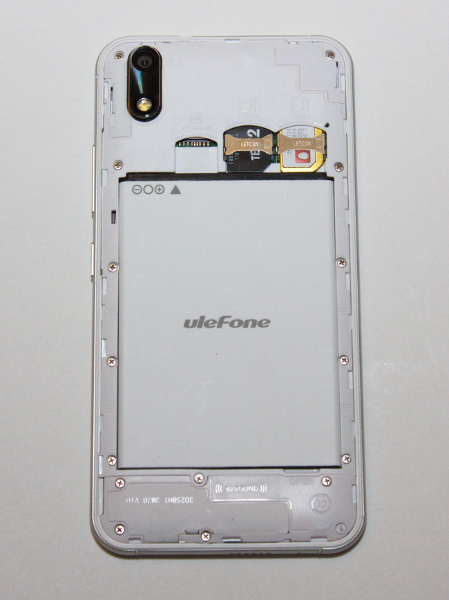 Ulefone Paris - Back side 2