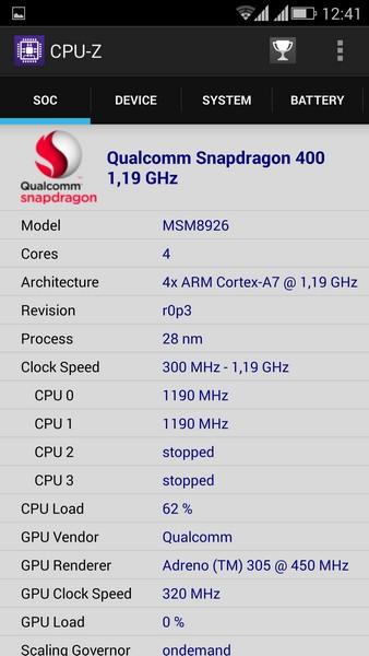 ViewSonic V500 - CPU-Z 1