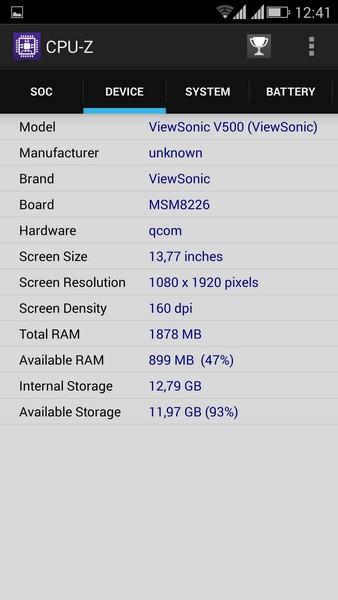 ViewSonic V500 - CPU-Z 2
