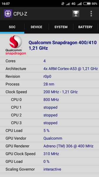 Xiaomi Redmi 2 - CPU-Z 1
