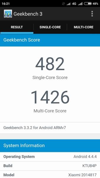 Xiaomi Redmi 2 - Geekbench 1
