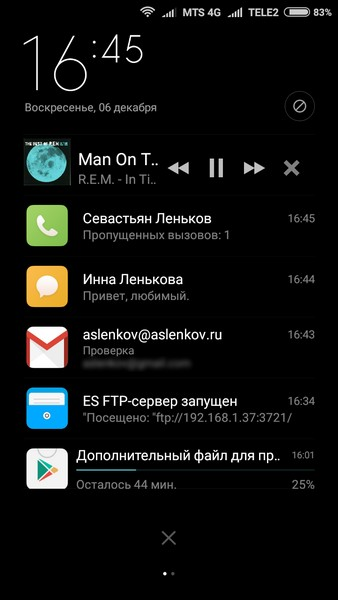 Xiaomi Redmi 2 - Notifications