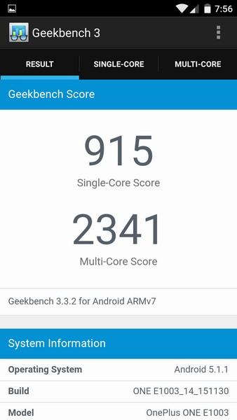 OnePlus X - Geekbench