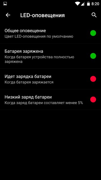 OnePlus X - Led notification