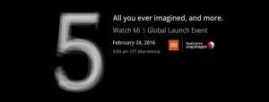 Xiaomi Mi5 -Presentation