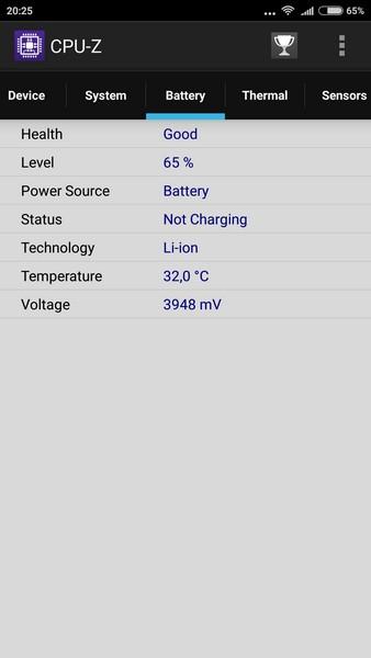 Xiaomi Redmi Note 3 - CPU-Z 4