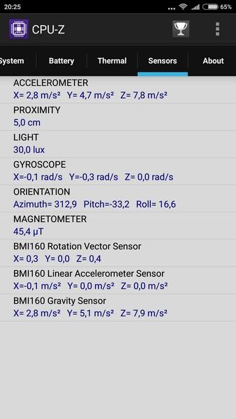 Xiaomi Redmi Note 3 - CPU-Z 6