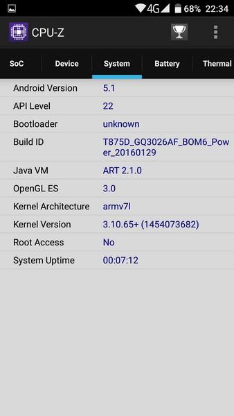 Ulefone Power - CPU-Z 3