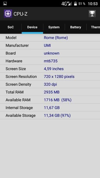 Umi Rome - CPU-Z 2