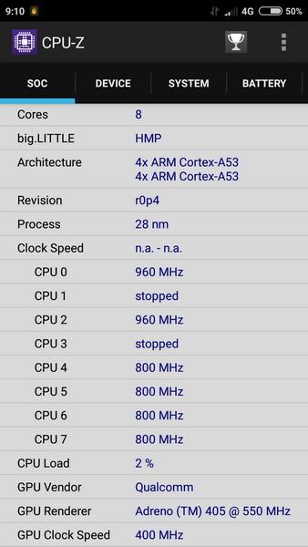 Xiaomi Redmi 3 - CPU-Z 1