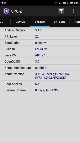 Xiaomi Redmi 3 - CPU-Z 3