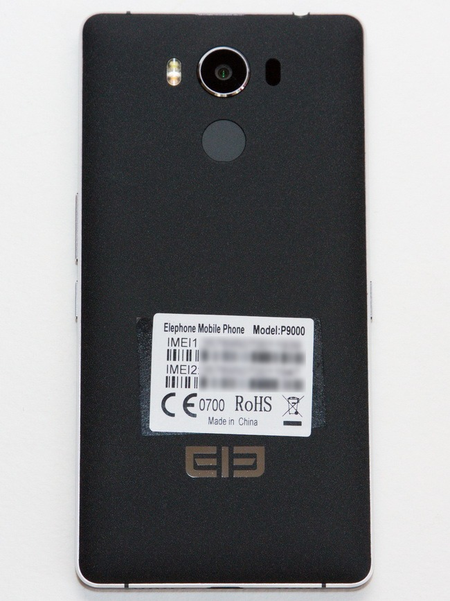 Elephone P9000 - Back side