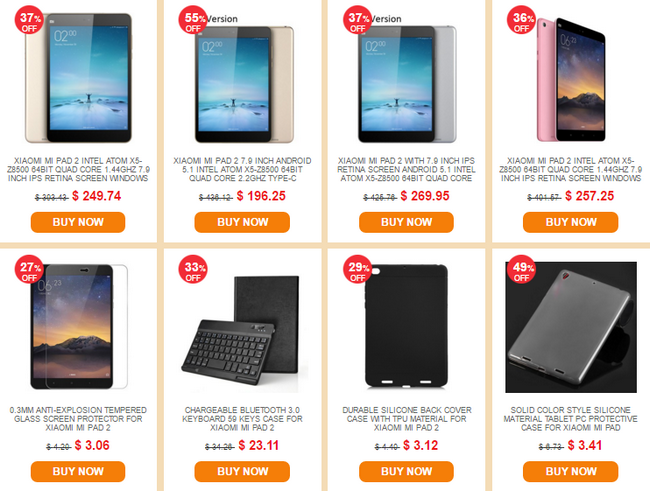 Everbuying Xiaomi Sale tablet