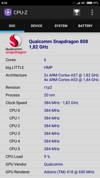 Xiaomi Mi4s - CPU-Z 1