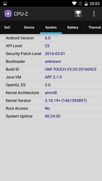 Umi Touch Review - CPU-Z 3Umi Touch Review - CPU-Z 3