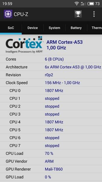 Meizu M3 Note Review - CPU-Z 1
