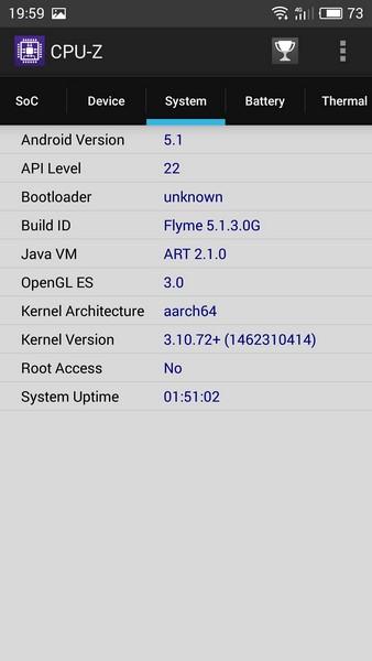 Meizu M3 Note Review - CPU-Z 3