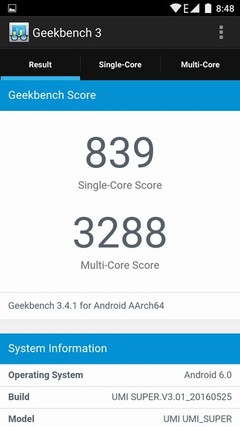 UMi Super Review - Test Geekbench 3
