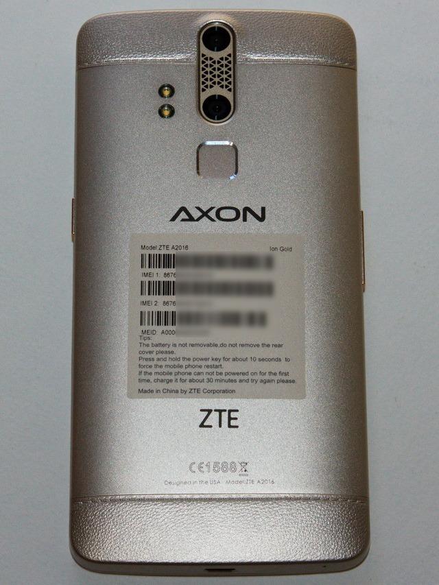 ZTE Axon Elite Review - Back side
