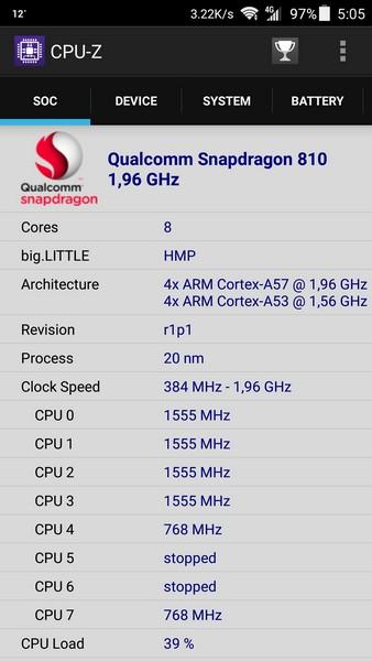 ZTE Axon Elite Review - CPU-Z 1