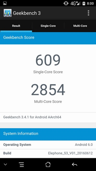 Elephone S3 Review - Geekbench
