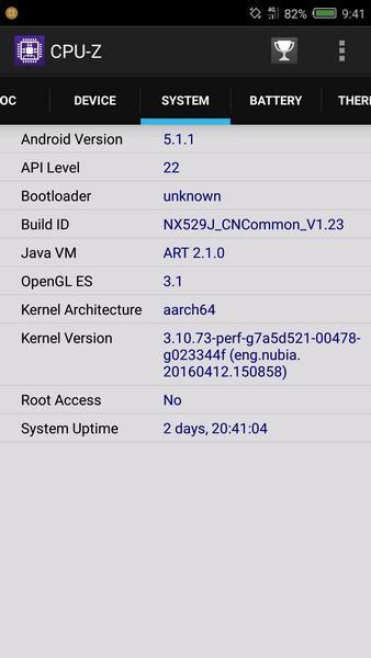 Nubia Z11 Mini Review - CPU-Z 3