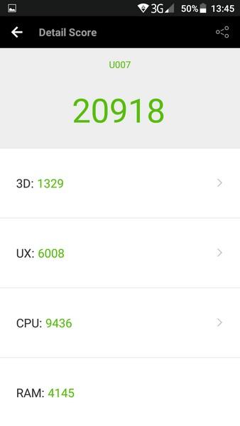 Ulefone U007 Review - AnTuTu