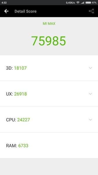 Xiaomi Mi Max Review - AnTuTu