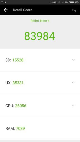 Xiaomi Redmi Note 4 Review - AnTuTu