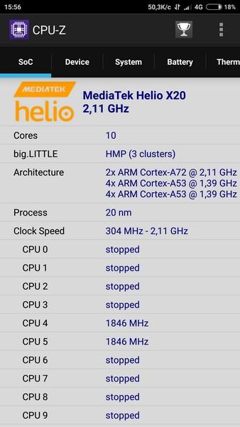 Xiaomi Redmi Note 4 Review - CPU-Z
